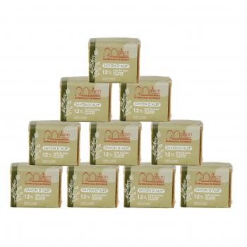 Lot 10 savons D'Alep 200gr 12% Huile de baie de laurier