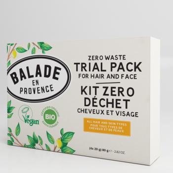 Kit Zéro Déchet BIO  Cheveux et Visage - 4 x 20 g - Balade en Provence