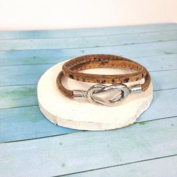 Bracelet naturel en liège Marina