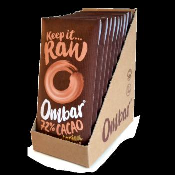 Lot de 9+1 Chocolats Crus 72% Cacao 70g Bio - Ombar