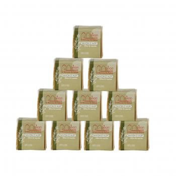 Lot 10 savons d'Alep 200gr 3% huile de baies de Laurier