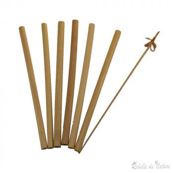 Lot de 6 pailles en bambou
