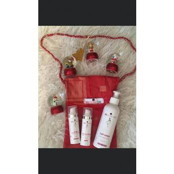Idée cadeau de Noël - trio de produits bio avec emballage cadeau en tissu offert!