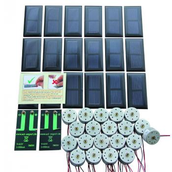 Lot de 20 cellules solaires SM330 + 20 moteurs RF-300