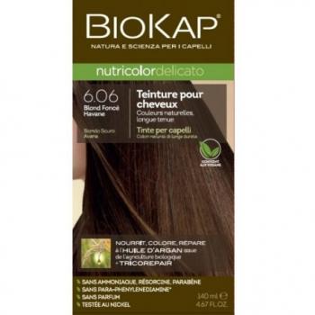 Teinture pour Cheveux 6.06 Blond Foncé Havane - 140ml - BIOKAP