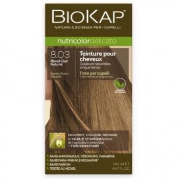 Teinture pour Cheveux 8.03 Blond Clair Naturel - 140ml - BIOKAP