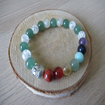Bracelet 7 chakras aventurine cristal de roche