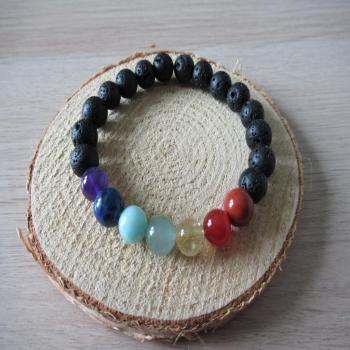 Bracelet harmonie des chakras en pierres naturelles
