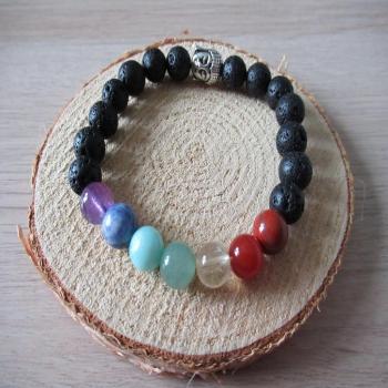 Bracelet harmonie des chakras en pierres naturelles et bouddha