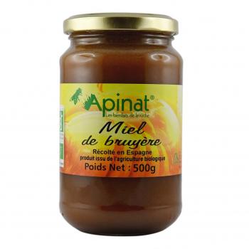 Miel de bruyère 500g bio - Apinat