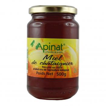 Miel de chatâignier 500g bio - Apinat