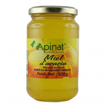Miel d'acacia origine Italie 500g bio - Apinat