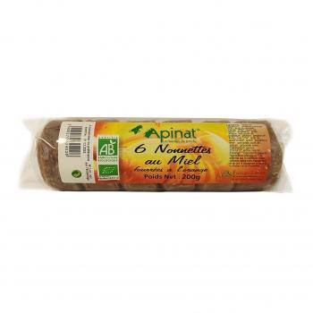 Nonnettes fourrées à l'orange 200g bio - Apinat