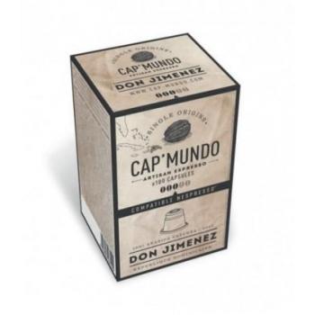 CAP'MUNDO - 100 Capsules de Café DON JIMENEZ 100% Arabica Caturra (Expresso)