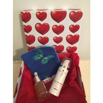 Coffret Cadeau Saint Valentin Duo Bio Glam Chic avec lingette