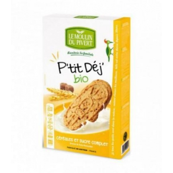 LE MOULIN DU PIVERT - Biscuits P'tit Déj' Céréales & Sucre complet bio