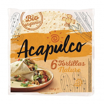 Tortilla wraps de blé 20cm x6 - 240g bio - Acapulco