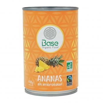 Ananas en morceaux 210g bio - Base Organic