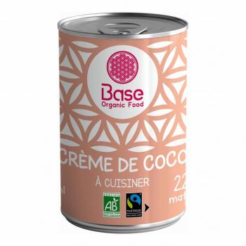 Crème de coco 22% MG 400ml bio - Base Organic