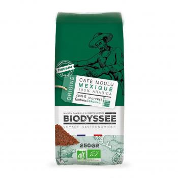 Café moulu 100% pur arabica Mexique 250g bio - Biodyssée