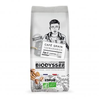 Café grain 100% arabica doux 250g bio - Biodyssée