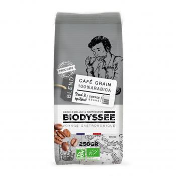 Café grain 100% arabica médium 250g bio - Biodyssée