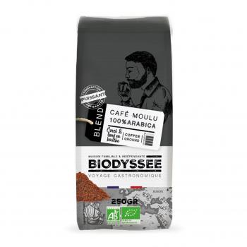 Café moulu 100% arabica corsé 250g bio - Biodyssée