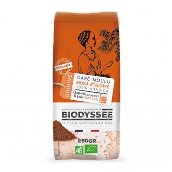 Café moulu 100% arabica moka Ethiopie 250g bio - Biodyssée