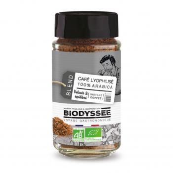 Café lyophilisé 100% arabica 100g bio - Biodyssée