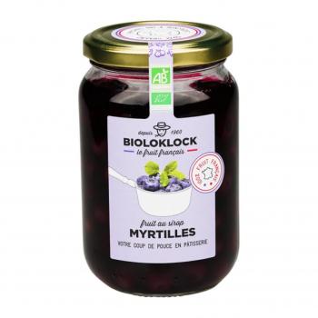 Myrtilles au sirop 180g bio - Biolo'Klock