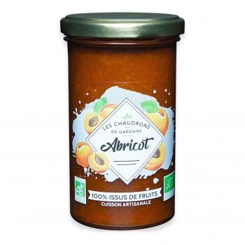 Préparation 100% fruits abricot 275g bio - Les Chaudrons de Garonne