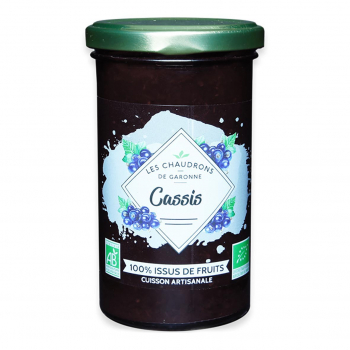 Préparation 100% fruits cassis 275g bio - Les Chaudrons de Garonne