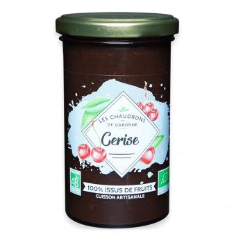 Préparation 100% fruits cerise 275g bio - Les Chaudrons de Garonne