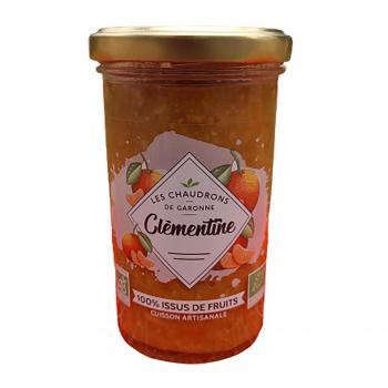Préparation 100% fruits clémentine 275g bio - Les Chaudrons de Garonne