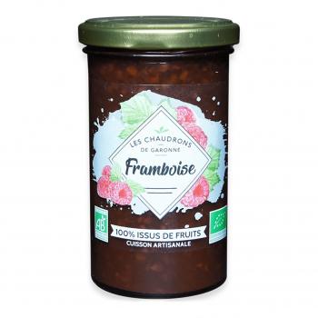 Préparation 100% fruits framboise 275g bio - Les Chaudrons de Garonne