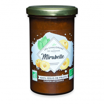 Préparation 100% fruits mirabelle 275g bio - Les Chaudrons de Garonne