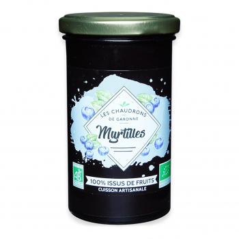 Préparation 100% fruits myrtille 275g bio - Les Chaudrons de Garonne