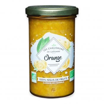 Préparation 100% fruits orange 275g bio - Les Chaudrons de Garonne