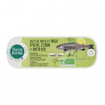 Anchois entiers à l'huile d'olive Bio 115g - Bonne Nature
