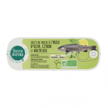 Filets de truite au citron et aneth 115g bio - Bonne Nature