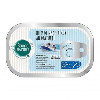 Filets de maquereaux MSC au naturel 100g - Bonne Nature