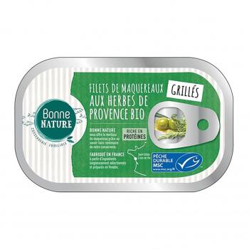 Filets de maquereaux MSC grillés aux herbes de Provence 118g - Bonne Nature