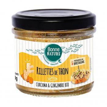 Rillettes de thon au curcuma et gingembre bio 90g - Bonne Nature