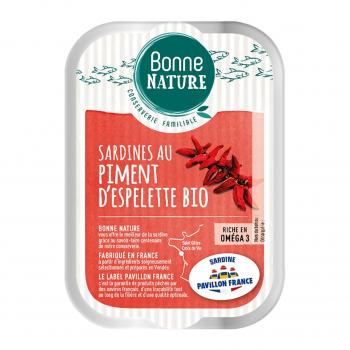 Sardines MSC au piment d'Espelette Bio 115g - Bonne Nature