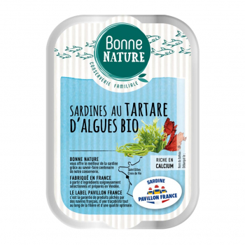 Sardines MSC au tartare d'algues Bio 115g - Bonne Nature