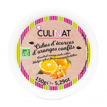 Cubes d'écorces d'oranges confites 150g bio - Culinat