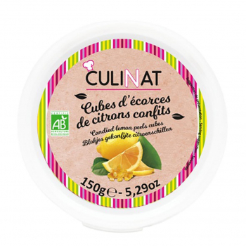 Cubes d'écorces de citrons confits 150g bio - Culinat