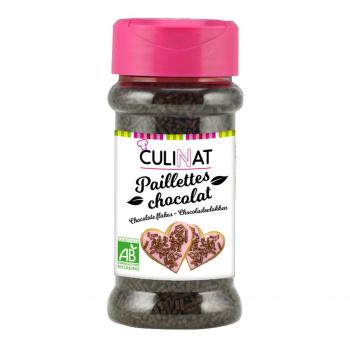 Paillettes de chocolat noir 60g bio - Culinat
