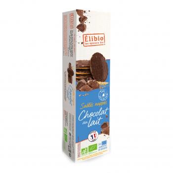 Sablés nappés chocolat au lait 200g bio - Elibio