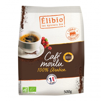 Café moulu 100% arabica 500g bio - Elibio